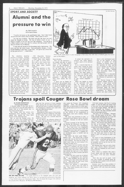Daily Trojan, Vol. 64, No. 33, November 08, 1971
