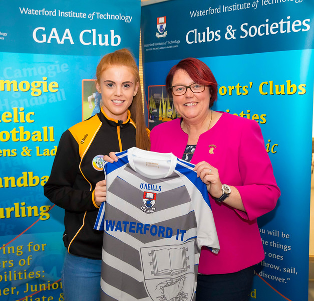 WIT holds event to honour 2016 All Ireland medal winning students. Pictured with the  President of the Camogie Association Catherine Neary is Collette Dormer of the Kilkenny Senior Camogie Team. Picture: Patrick Browne  Waterford Institute of Technology's presence and influence across Gaelic Games at a national level in 2016 has been very noticeable. In total there are 32 past and present WIT students on the respective playing panels that won All Ireland medals in 2016 and a further 4 members on the backroom management teams.   To honour this huge achievement, WIT GAA Club is paying tribute to these 36 past members on securing these prestigious national titles on Monday 3 October, 6.30pm at the WIT Arena.   Along with the players, the prestigious cups, including the All Ireland Senior Hurling Cup- Liam McCarthy, the All Ireland Senior Camogie Cup- O'Duffy, The All Ireland Minor Cup and the All Ireland Under 21 Hurling Cup- James Nowlan, will be on show on the night.
