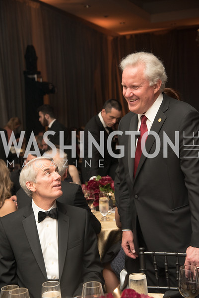 Senator Rob Portman, Jeffrey Immelt,  Harvard Business School, Leadership Gala, DC, The Four Seasons, June 13, 2018.  Photo by Ben Droz.