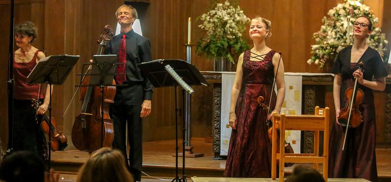 The Quartet acknowledges applause for Te Tai-O-Rehua