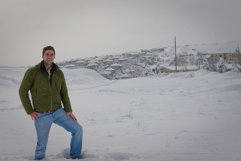 Yes I set up my tripod and took a picture of myself in the snow. Feel free to make fun of me...