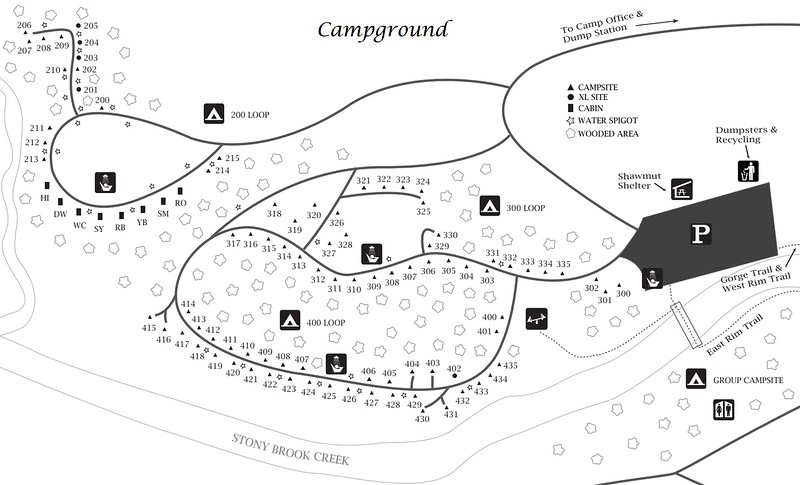 Stony Brook State Park (Campground Map)