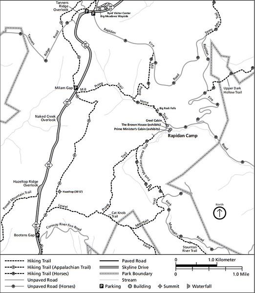 Shenandoah National Park (Trails - Rapidan Camp Area)
