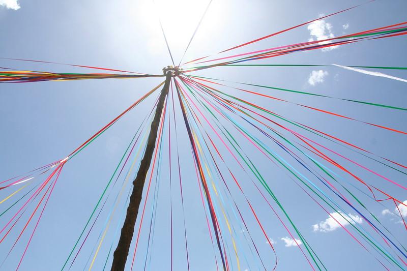 Maypole pierces the sun