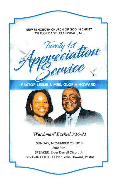 21st Appreciation Service