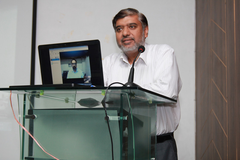 Guest Speech by Dr. Waqar Mahmood, Head KICS and IEEE Computer Society Lahore.JPG