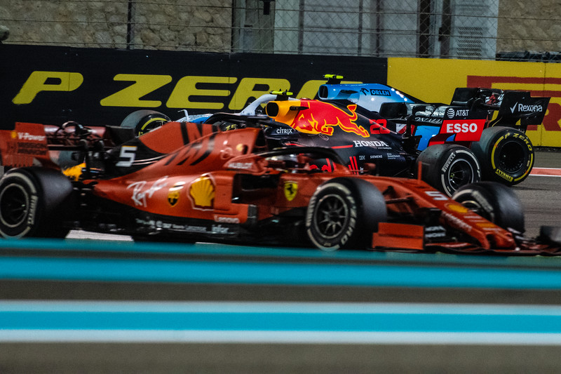 Sebastian VETTEL, Alexander ALBON and Robert KUBICA, UAE/Abu Dhabi, 2019