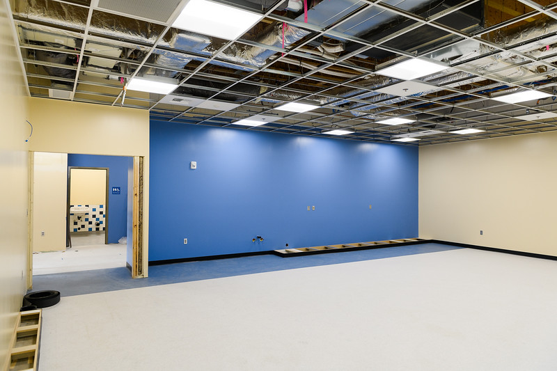New classroom flooring in Gubser Elementary, under construction on Friday, August 16, 2019, in Keizer, Ore.