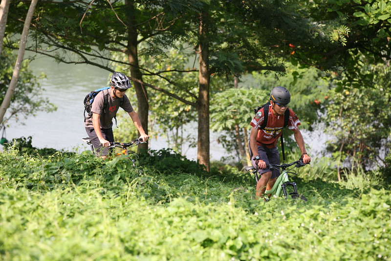 Mountain biking Pulau Ubin, Singapore