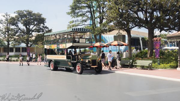 Disneyland Resort, Tokyo Disneyland, World Bazaar, Hub, Plaza, Omnibus