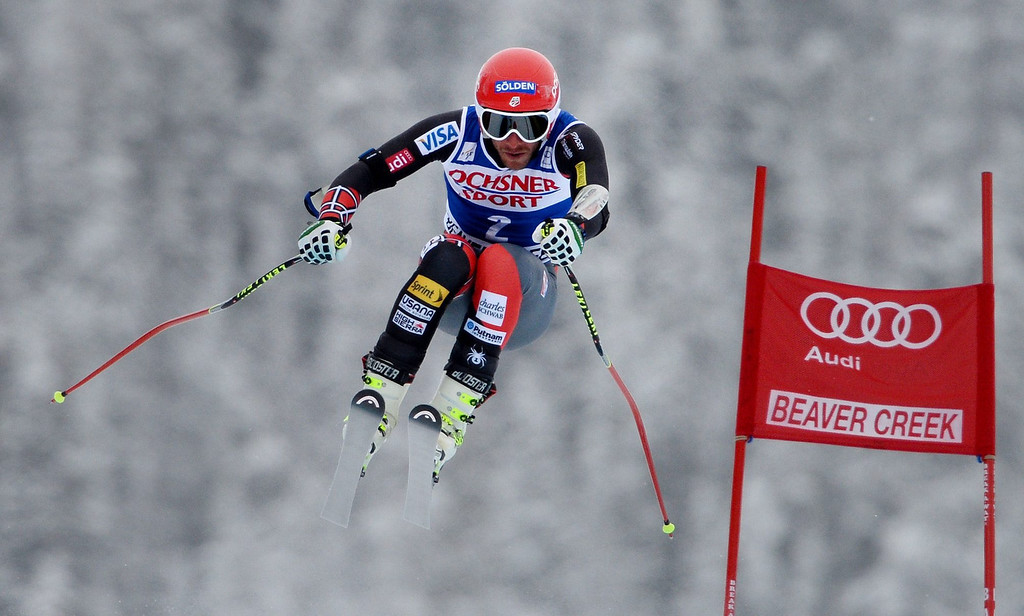 . Bode Miller, of the USA, in action during the Men\'s Super-G race at the FIS Alpine Skiing World Cup in Beaver Creek, Colorado, USA, 07 December 2013.  EPA/JUSTIN LANE
