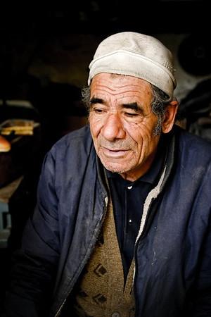 Portrait of a Libyan man in Tripoli, Libya.