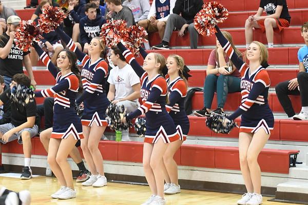 Cheerleaders - Northwest Basketball game