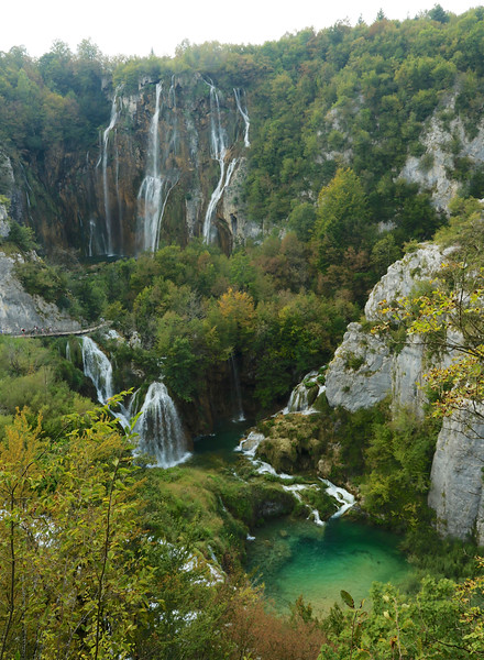Plitvice Lakes National Park is the largest national park in Croatia, famous for its 16 lakes connected by rushing waterfalls and linked by footpaths, wooden bridges and boardwalks.