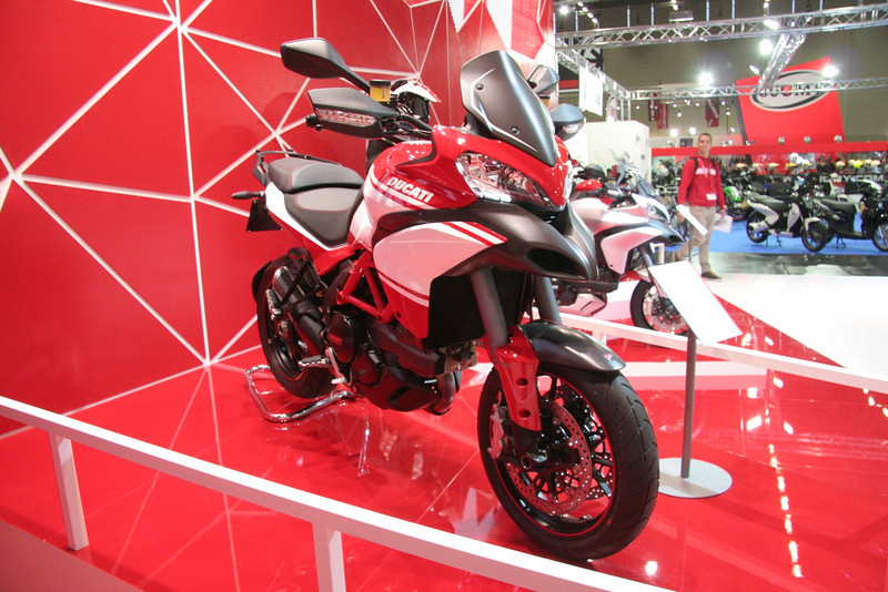 6/10: Launch of the 2013 Ducati motorcycle range, including the new updated Multistrada 1200 Pikes Peak edition, at the Intermot International Motorcycle Show in Cologne, Germany, Oct 2012.