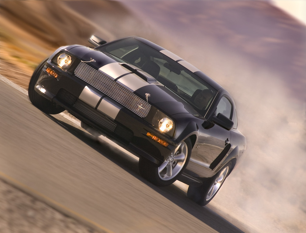. In this undated photo released by the Ford Motor Company, the 2007 Ford Shelby GT is shown. The limited-edition souped-up Mustang born of the automaker\'s renewed partnership with racing legend Carroll Shelby was unveiled in Las Vegas last week. (AP Photo/Ford Motor Company)