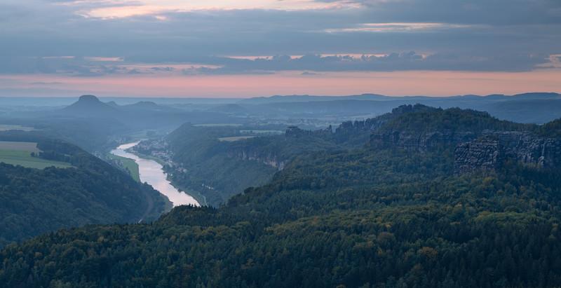 Sunset near Schmilka