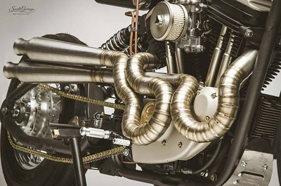 Motorcycle welding artist..