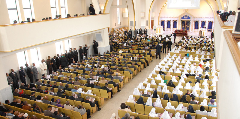 Full view of Mosque Maryam during janazah services for Louis Farrakhan, Jr.  Photo: Haroon Rajaee