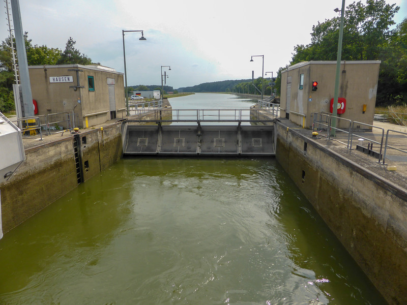 A typical upstream lock