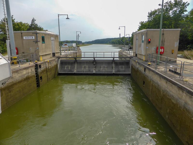 A typical upstream lock