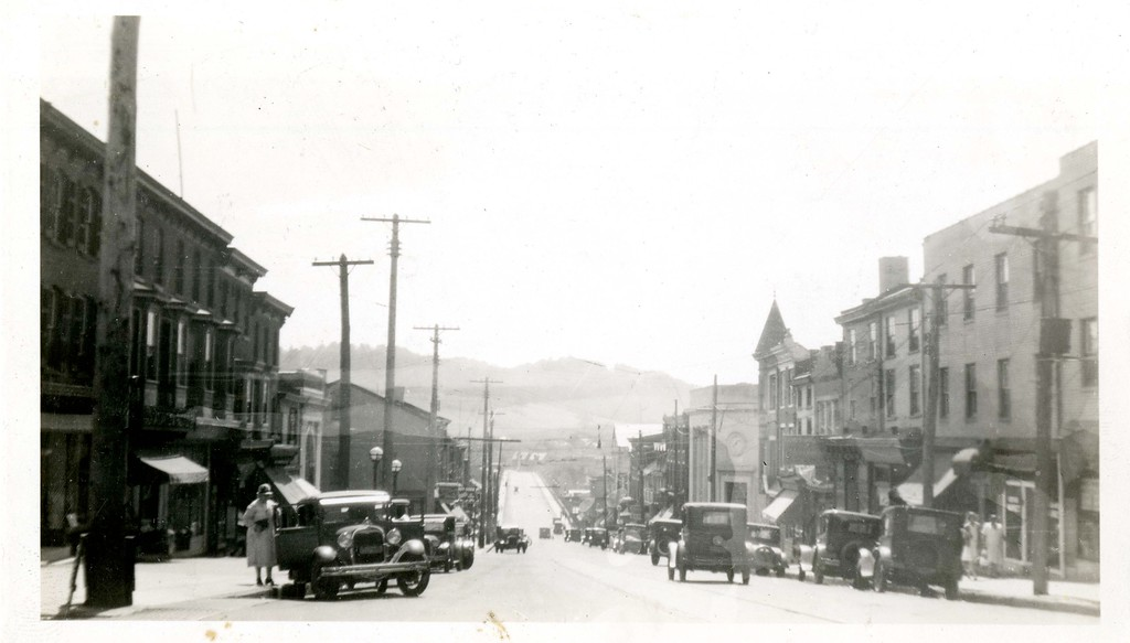 . This undated photo from the Historical Society of Montgomery County shows Fayette Street in Conshohocken. The Matsonford Bridge can bee seen in the background.