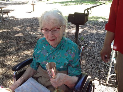Gran Ann's 91st Birthday at Foothill Park, April 2015