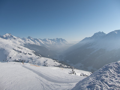 Skiing in St. Anton, Austria