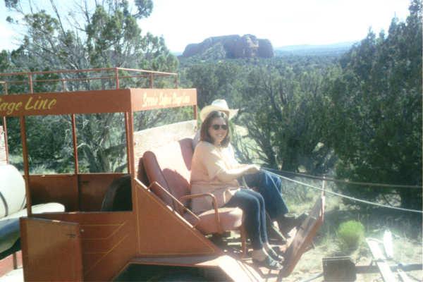 99 Mom on stagecoach_1.JPG