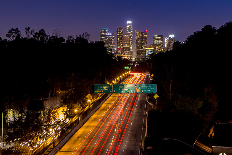 Park Row Drive Overlooking the 110 to Los Angeles