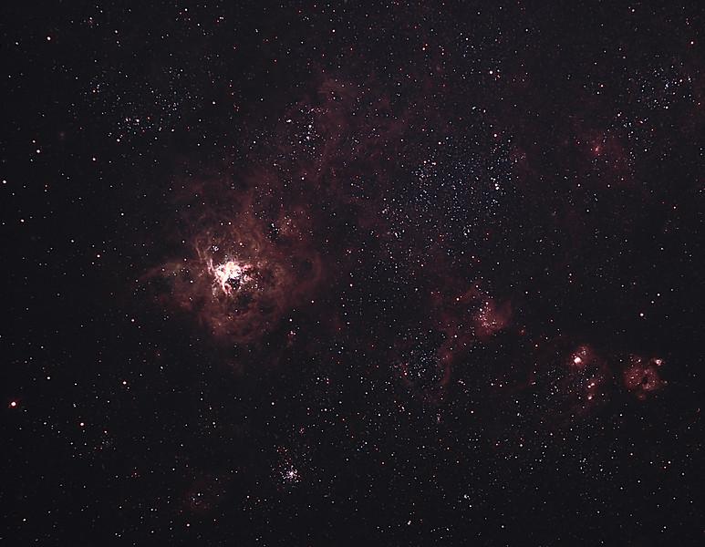 Caldwell 103 - NGC2070 - 30 Doradus Tarantula Nebula - 24/12/2011 (Processed cropped stack)