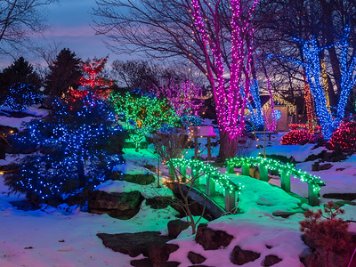 2016.Holiday Lights. Rotary Botanical Garden. Janesville, WI