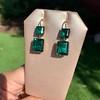 Georgian Double Drop Emerald Paste Earrings 19