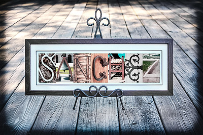 4x6 Rustic Letters