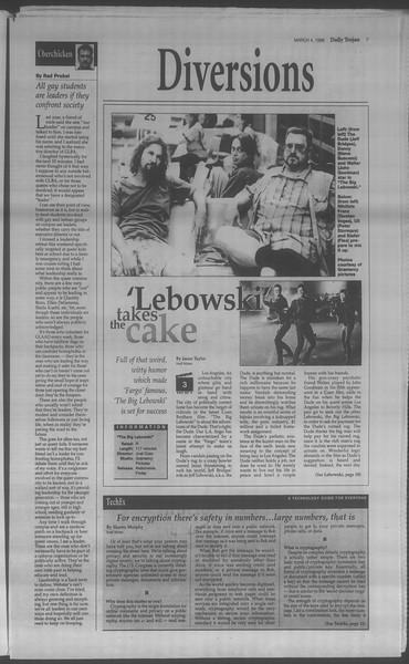 Daily Trojan, Vol. 133, No. 36, March 04, 1998