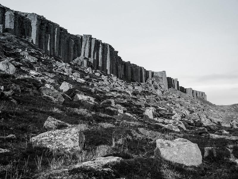 Gerðuberg basalt columns in Iceland