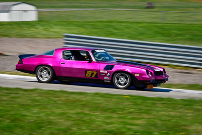 2021 SCCA Pitt Race Aug TT Warm 87 Purple Camaro