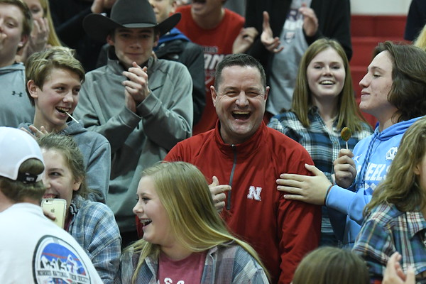 Student Crowd - Nebraska City Basketball game