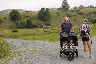 Blowing Rock with Jamie and kids