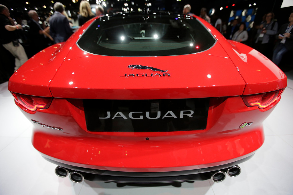 . The Jaguar F-Type Coupe is introduced at the Los Angeles Auto Show in Los Angeles, Wednesday, Nov. 20, 2013. (AP Photo/Chris Carlson)