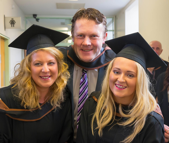 28/10/2015. Waterford Institute of Technology Conferring. Pictured are Kristina Byrne, Waterford, Michael Cahill, Waterford and Joanna Conran, Kilkenny who graduated BA (Hons) Social Care. Picture: Patrick Browne
