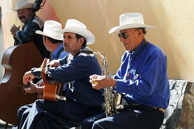 Street musicians in Ensenada, Mexico
