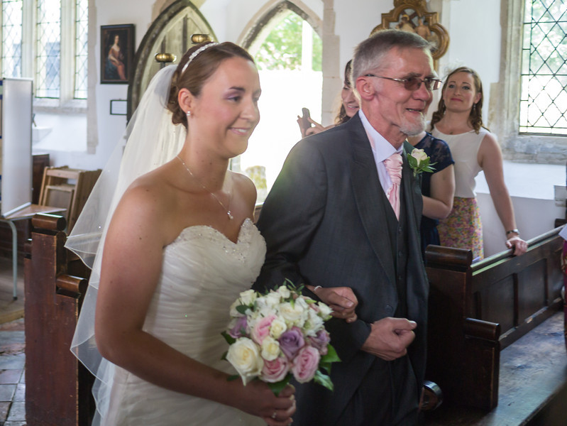 Lois coming down the aisle