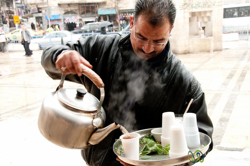 Mint Tea on the Street - Amman, Jordan