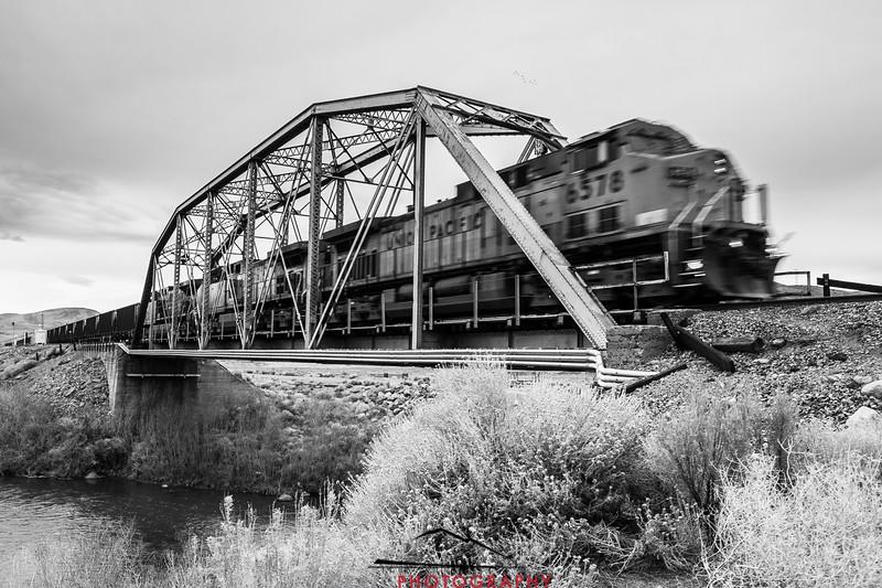 Union Pacific on Patrick Bridge, near Reno, Nevada