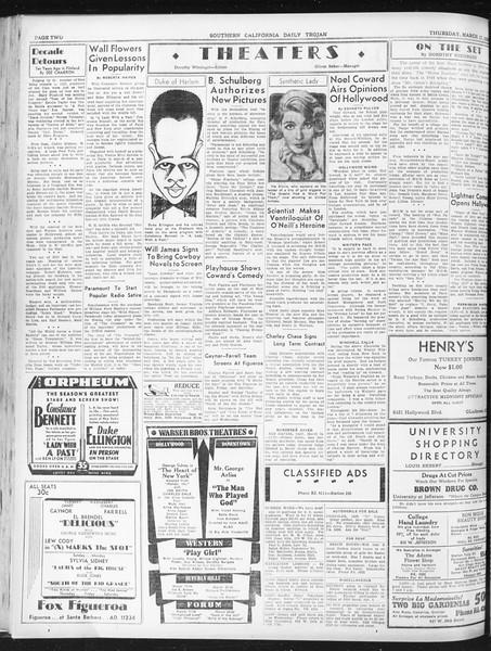 Daily Trojan, Vol. 23, No. 110, March 17, 1932