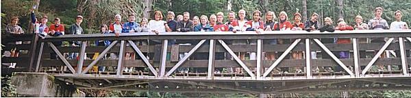 1999 Alberni 10K - The Harriers post-race social at Little Qualicum Falls