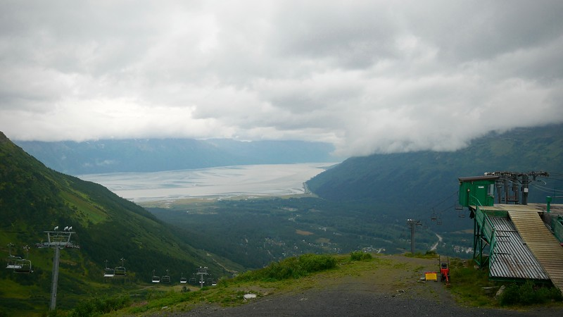 View of Turnagain Arm from the top of the Alyeska Tram in Girdwood