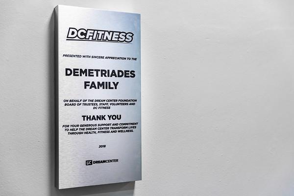 Demetriades Plaque Presentation