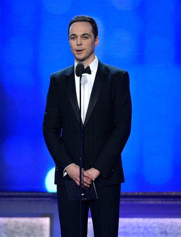 . Jim Parsons presents the award for best comedy at the 22nd annual Critics\' Choice Awards at the Barker Hangar on Sunday, Dec. 11, 2016, in Santa Monica, Calif. (Photo by Chris Pizzello/Invision/AP)